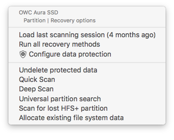 Allocating existing data and other data recovery algorithms in Disk Drill