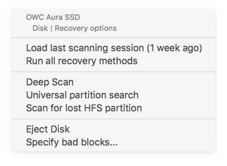 Scan for lost HFS+ Partition