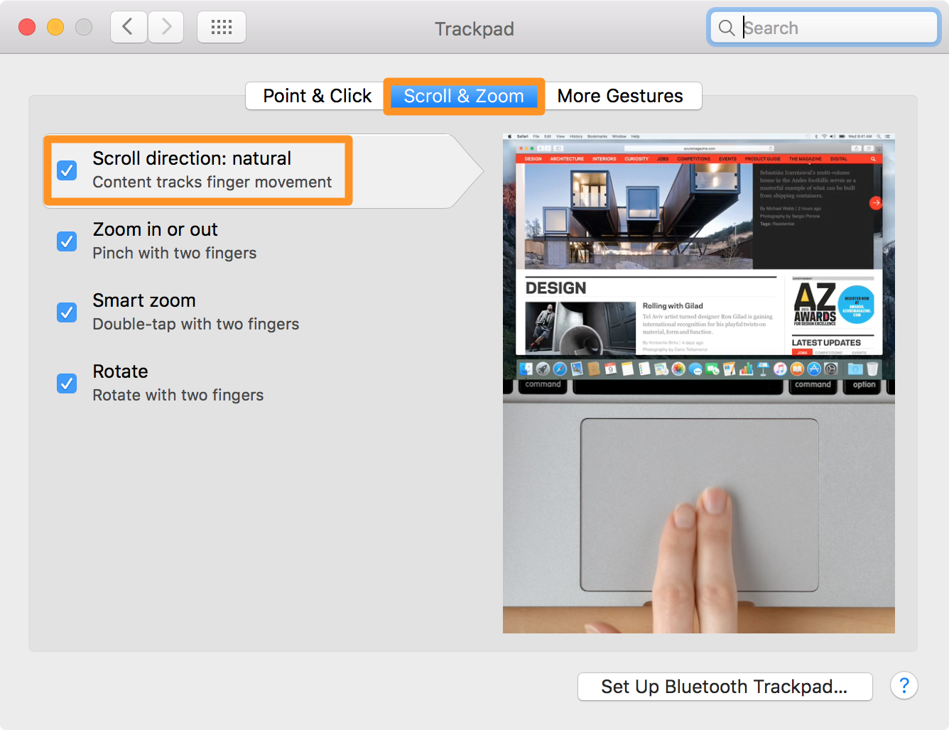 How to zoom in out on mac os x zooming on a mac accessibility and convenience ccuart Images