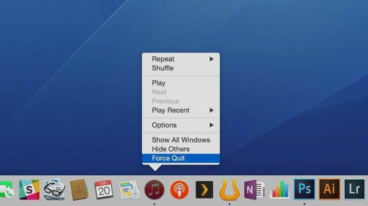 Apps from Dock Panel