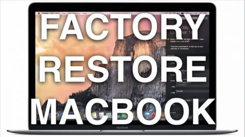 Reset a Mac to Factory Settings