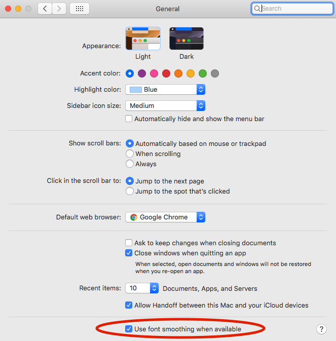 How to Fix Blurry Fonts on Mac OS X High Sierra and Mojave