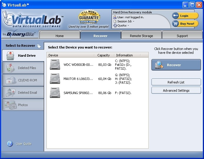 virtuallab- data-recovery