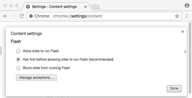 adobe flash player for mac chrome