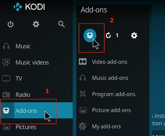 kodi add ons package icon