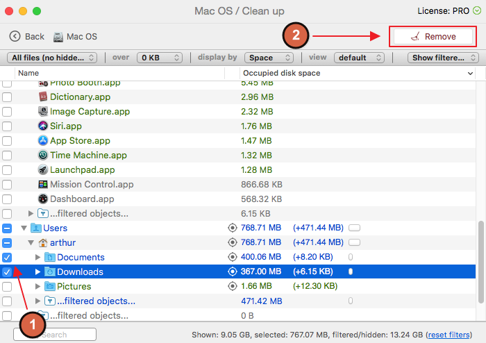 clear other space on mac
