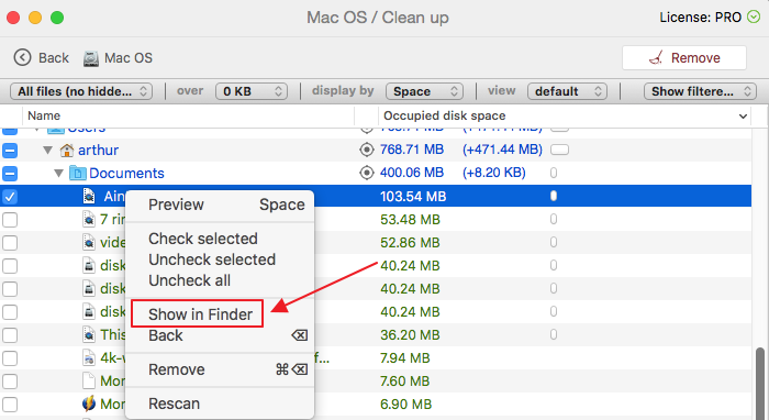 where to find other storage mac