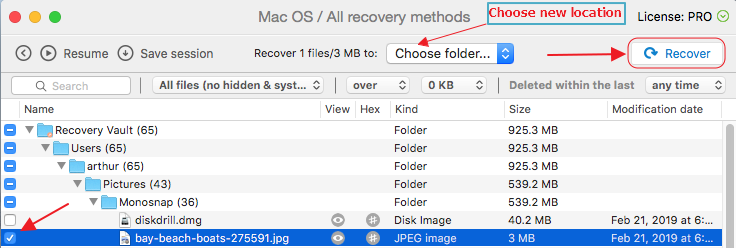 recover lost photoshop files