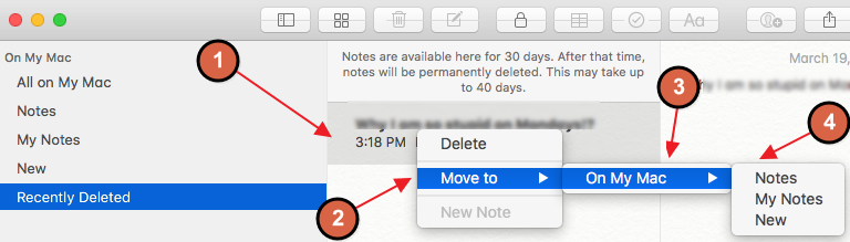 best way to recover deleted notes on Mac