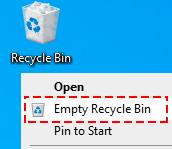 Empty the Recycle Bin