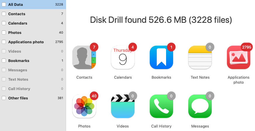 use disk drill to recover deleted photos iphone