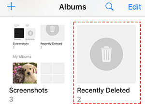 how to retrieve recently deleted photos on iphone