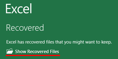 recover excel spreadsheet