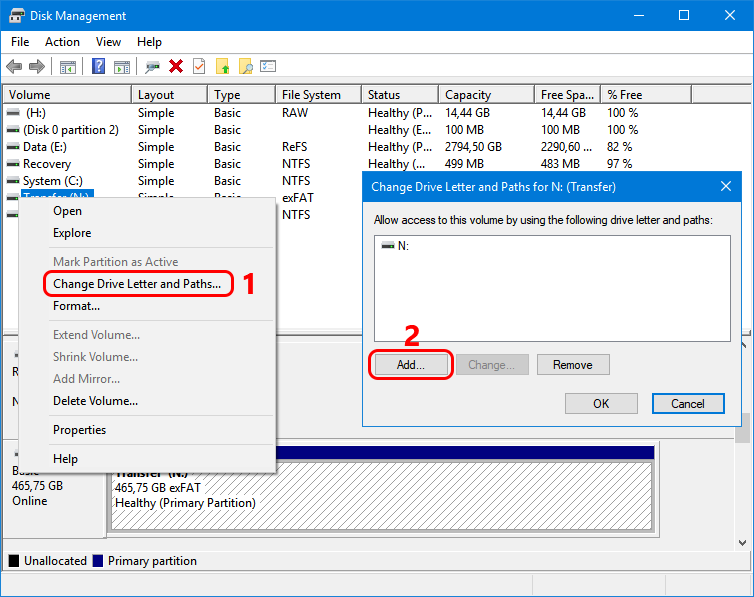 recovering external hard drives with Windows