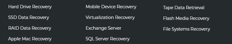 features Ace data recovery Service