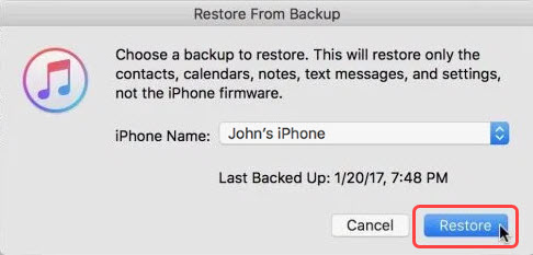 restore deleted photos from backup