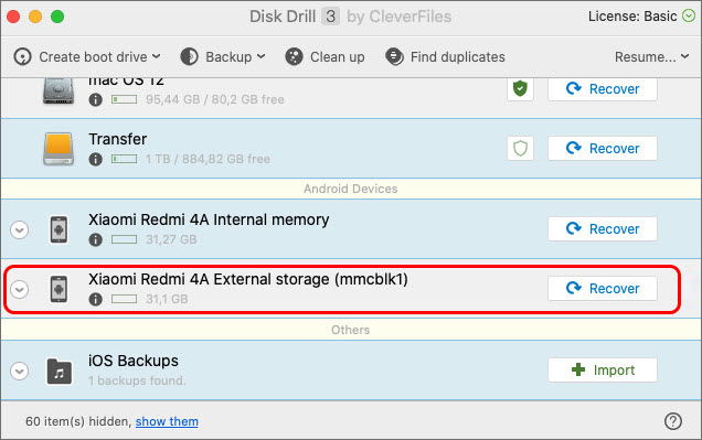 restore recently deleted pictures from samsung galaxy internal memory with disk drill