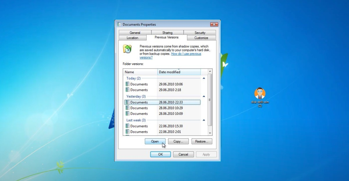 how to recover deleted files on Windows 7