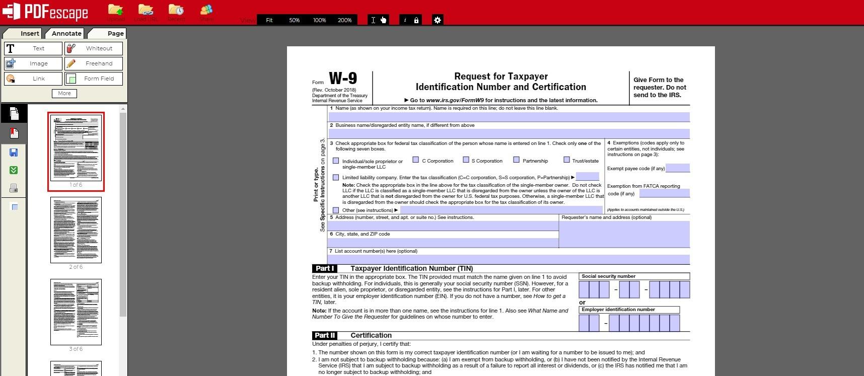pdfescape pdf editor for Mac
