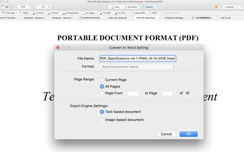 foxit phantompdf pdf editor for Mac