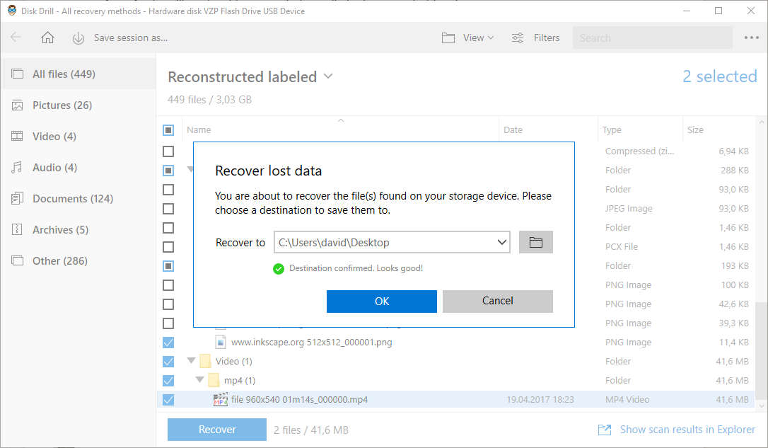 Windows 10 recovered lost data