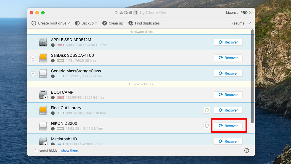 recover deleted files from an SD card