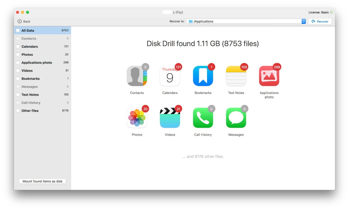 iPad recovery software to find lost photos