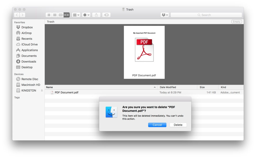 it is possible to recover your recover deleted or lost PDF file on Mac