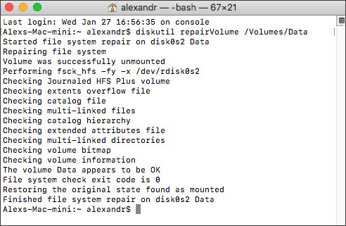 Repair the corrupted hard drive using Disk Utility