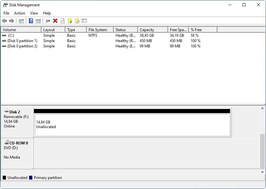 What can you do when your MicroSD appears as unallocated space?