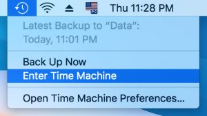 enter time machine on your mac