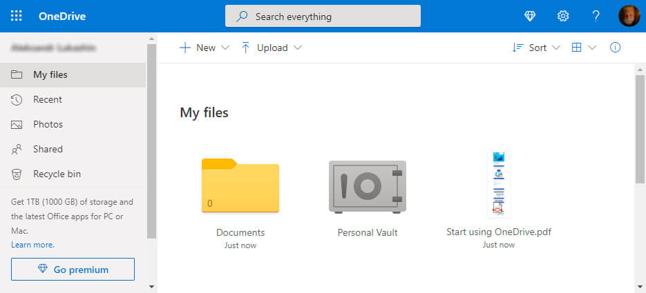 OneDrive online backup service