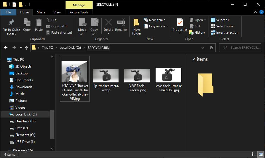 Delete the Recycle Bin using File Explorer