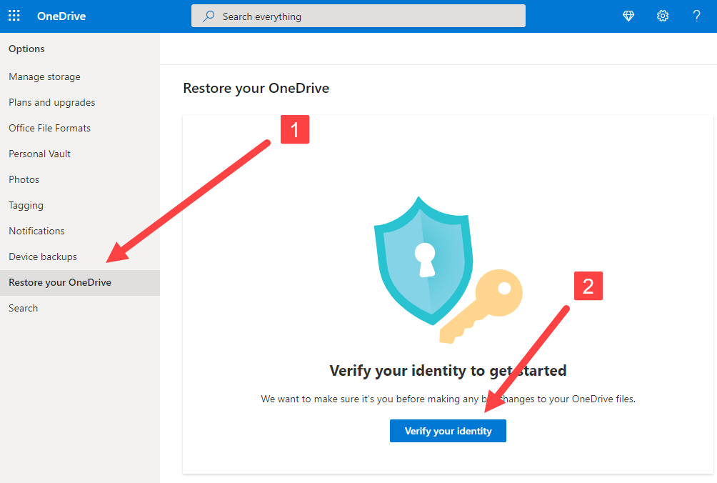 Restore OneDrive to a Previous Time