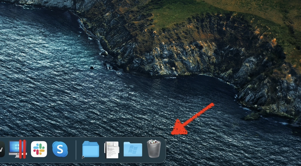 Restore Desktop Files Using the Trash