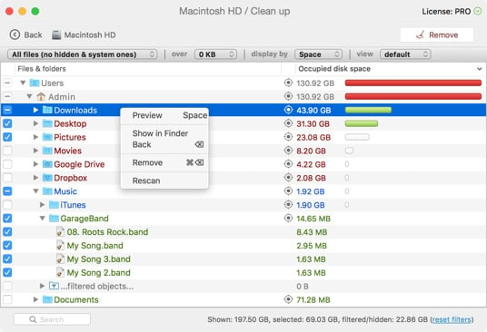Free up disk space mac