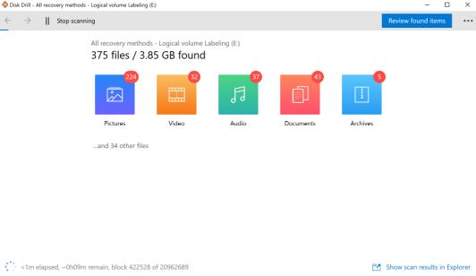 Recuperação de arquivos Excel