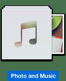 Foto dan Muzik di Mac