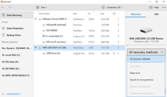 USB Dataåterställning Algoritmer