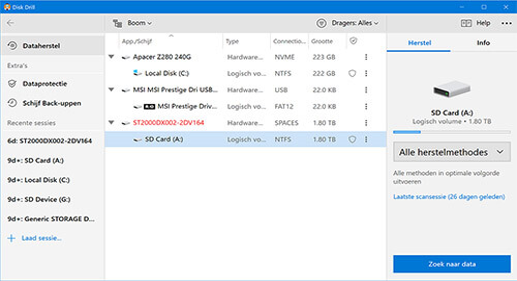 data recovery software voor windows