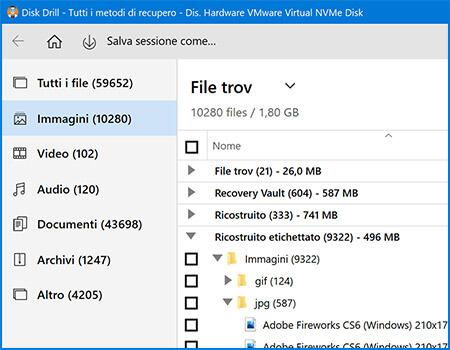 strumento di recupero dati di windows