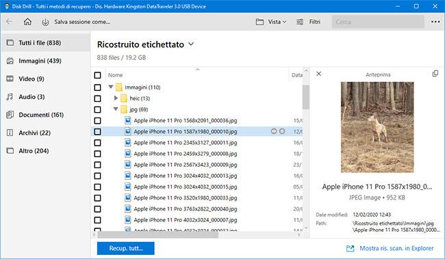 software di recupero dati gratuito windows 10