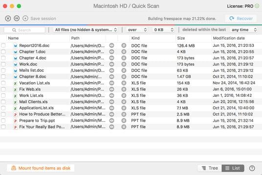 Återställ osparade word dokument mac