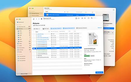Senarai cakera pada Mac OS
