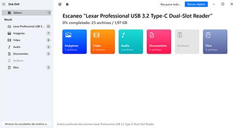 recuperar archivos usb