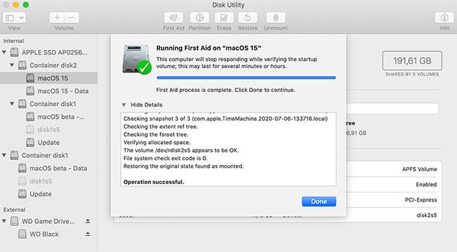 repiar microsd with first aid mac