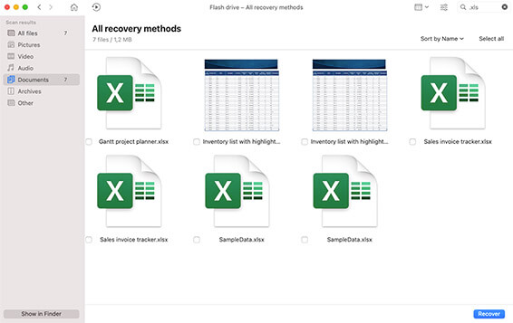 how to recover unsaved excel file mac