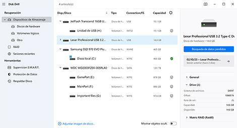 recuperar archivos borrados usb gratis