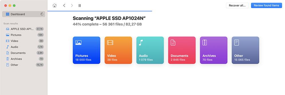 Nach verlorenen Daten suchen