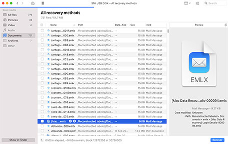 how to recover deleted email on mac